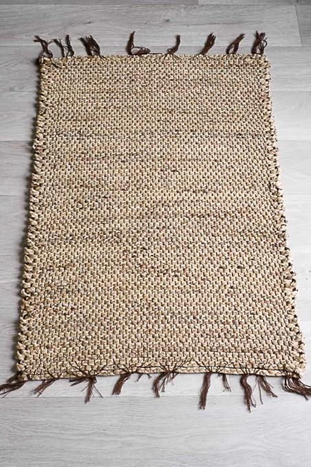 tapis naturel jacinthe d'eau - tapis matière naturelle - petit tapis salle de bains - tapi naturel - Bazar Bizar - wkhdeco
