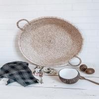 GÉANTE ☆  Les nouvelles corbeilles plates géantes  sont disponibles sur l'eshop (3 tailles au choix : S/M/L)  Idéales en vide poches, en corbeille de fruits, en plateau de cuisine ou simplement en deco à poser sur un meuble ou à accrocher au mur, elles sont parfaites pour une ambiance déco douce et naturelle.   Belle soirée ♡  #wkhdeco  #interior #cuisine #decoration #interior4all #new #eshopdeco #newcollection #corbeilleplate #marocartisanat #slowdesign #new #slowliving #decocuisine #bolcoco #torchon #harmonytextile